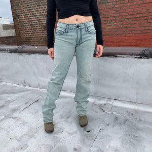 Robin's Jeans Straight Leg Heavy Stitching